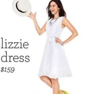 CAbi 5106 white Lizzie eyelet lace dress tie waist